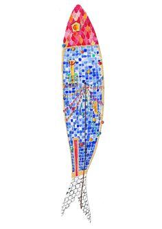 sardinhas lisboa - Buscar con Google Fish Art, Oceans, Background Patterns, Mosaics, Interior And Exterior, Pop Art, Original Art, Projects To Try, Interiors