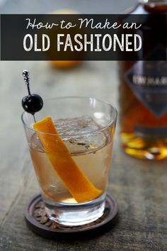 Bourbon is making a comeback. Learn how to make a classic Old Fashioned cocktail. This easy Whiskey drink recipe will make you the hit of the party.