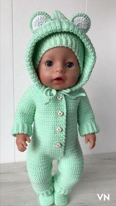 Crochet Circles, Crochet Doily Patterns, Baby Patterns, Crochet Doll Clothes, Sewing Dolls, Doll Clothes Patterns, Baby Born Kleidung, Baby Born Clothes, Baby Pop