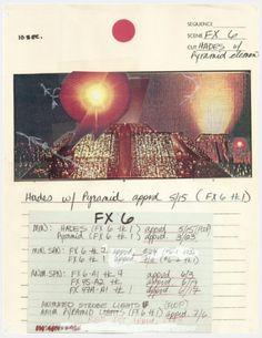 Original storyboards from film Blade Runner