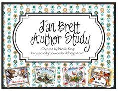 Jan Brett Author Study {FREEBIE} - Nicole King - TeachersPayTeachers.com
