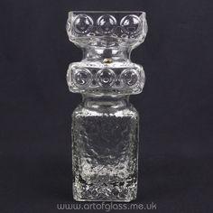 Riihimaki Kehra glass vase, designed by Tamara Aladin