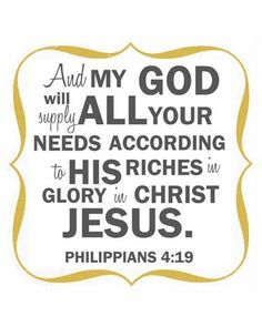 Phil. 4:19