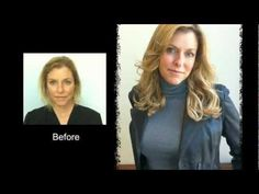 You won't believe this before and after Hair Extensions Topper video for short thin hair.