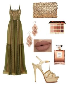 """Без названия #135"" by djelsomina-manchini on Polyvore featuring мода, Alberta Ferretti, Clemsa, Yves Saint Laurent, Theia Jewelry, Chanel и tarte"