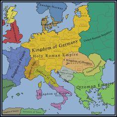 Roman Empire Map, Holy Roman Empire, Fantasy Map Generator, Imaginary Maps, German Submarines, Alternate History, Fictional World, World History, Still Image