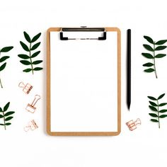 Clipboard mock up. paper clips, pencil, pistachios branches on a white background Premium Photo Framed Wallpaper, Flower Background Wallpaper, Flower Backgrounds, Background Patterns, Textured Background, Art Room Posters, Instagram Frame Template, Instagram Background, Photocollage
