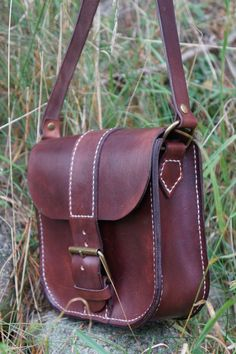 crossover Leather bag via Nabamu Design. Click on the image to see more!