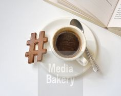 This is a Media Bakery licensable image titled 'Hashtag chocolate with a cup of coffee' by artist David Malan for editorial and commercial use only. No use with out payment. Search our large selection of royalty free and rights managed stock photos.