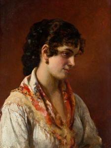 Eugenio De Blaas - Junge Venezianerin
