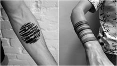 Stanislaw Wilczynski, a tattoo artist based in Moscow, Russia, creates some unbelievable tattoo designs that resemble digital glitches and patterns. The minimal