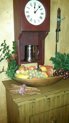 My stone fruit, 2013 Stone Fruit, Antique Clocks, Country Primitive, Fruits And Vegetables, Colonial, Carving, Watches, Christmas, Inspiration