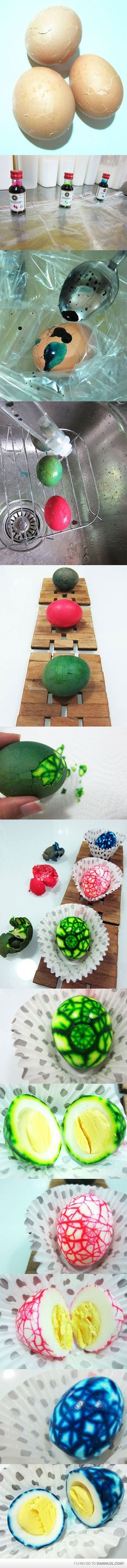 stained eggs