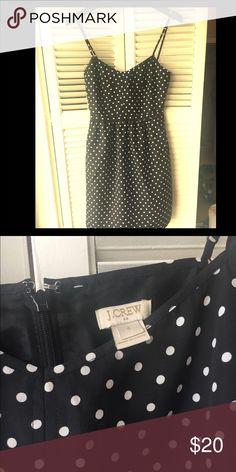 J.Crew Polka Dot Cami Dress Black and white polka dot cami dress. Size 0. Never been worn but no tags. J.Crew Factory Dresses Mini