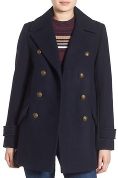 French Connection Wool Blend Peacoat