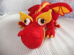 Crochet fire dragon pattern: http://www.ravelry.com/patterns/library/jj-the-fire-dragon---amigurumi-pattern