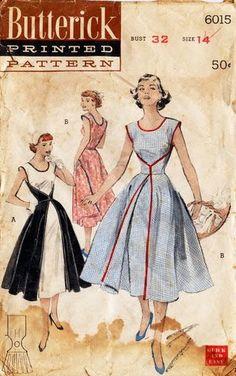 Patron Vestido de los 50s, con instrucciones