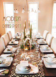 One day  I will have a giant dining room table and Friendsgiving will look like this.