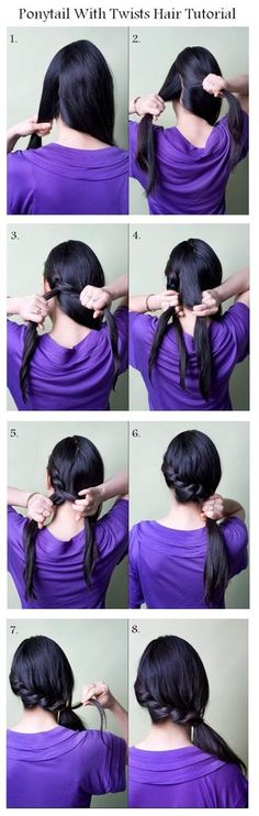 """8 Ponytails with a Twist 
