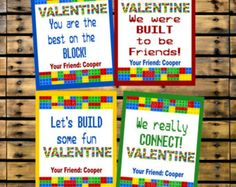 Like the sayings for these lego valentines
