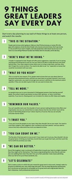 SEO Marketing Ideas 9 Things Great Leaders Say Every Day 9 things great leaders say everyday, leadership, inspiration, success People judge you by what you do--and by what you say. Here are nine phrases that should roll off your lips every single day. Life Skills, Life Lessons, Piano Lessons, Coaching Personal, Leadership Skill, Examples Of Leadership, What Is Leadership, Leadership Development Training, Leadership Development