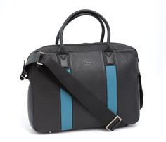 Those #blue #stripes give this Paul Smith shoulder #bag a little  #urban #flair. Find yours! http://www.frieschskys.com/bags #frieschskys #men #mensfashion #fashion #mensstyle #style #moda #menswear #dapper #stylish #MadeInItaly #Italy #couture #highfashion