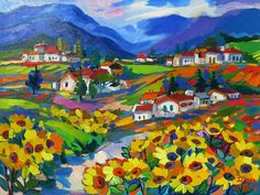 Tuscany Sun South African Artists, Tuscany, Sun, Painting, Painting Art, Tuscany Italy, Paintings, Painted Canvas, Drawings