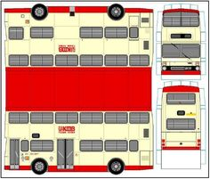 MCW Metro Double Deck Bus Paper Model - by Paper Bus Connection