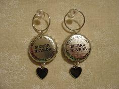 pinterest beer bottle cap bars | SIERRA NEVADA BEER Bottle Cap Earrings - Earrings