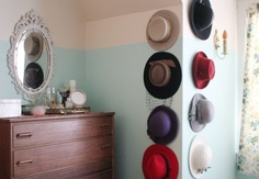 Hats hung on the wall