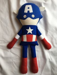 A personal favorite from my Etsy shop https://www.etsy.com/listing/208265872/captain-america-fabric-doll-avengers