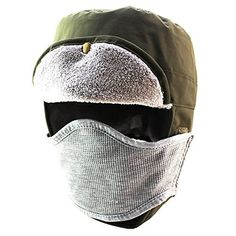 Mazo Adults Kids Winter thick Warm Waterproof Hat with Removeable Mask