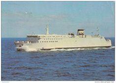"Fähren - Fährschiff """"Rostock"""" (Saßnitz auf Rügen, Ostsee) 1985."
