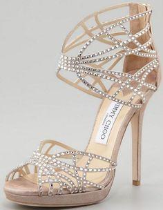 Jimmy Choo Diva Beige Suede Swarovski Crystal Embellished Sandals 38 It 36 1 2 sparkly rhinestone gift