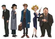 Characters from Fantastic Beasts and Where to Find Them! by Soyeon Yoo