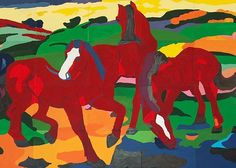 "Abstract Expressionism, Franz Marc ""Red Horses"""