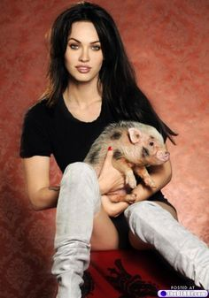 Megan Fox and her pet pig, My first love is animals, nature, children, they manifest real love and intelligence, showing us the right path, there is not such thing as the big bang, life has been there always in different disguises and black holes are in fact sun universes,   https://stargate2freedom.wordpress.com/2016/05/03/cruelty-to-animals-is-a-fact/