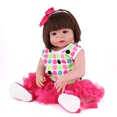 """84.35$  Buy here - http://alix4k.shopchina.info/go.php?t=32810716570 - """"NPK 22"""""""" Full body silicone reborn baby dolls rooted hair blue eyes newborn girl princess dolls for child bebe gift bonecas""""  #buychinaproducts"""
