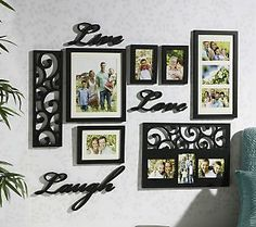 Melannco 10 Piece Live Laugh Love Word Frame Wall Decor Set