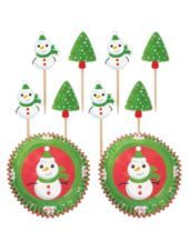 Snowman Cupcake Combo Pack 48ct-Christmas Baking-Christmas-Holiday Parties-Party City