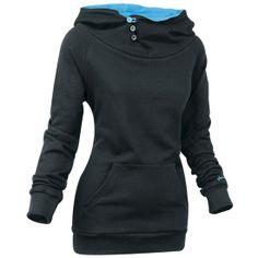 black jacket with blue inside