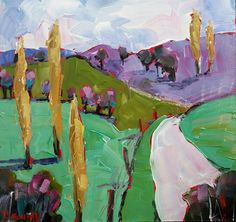 sold Medium Art, Mixed Media Art, Landscape, Modern, Painting, Trendy Tree, Painting Art, Paintings, Mixed Media