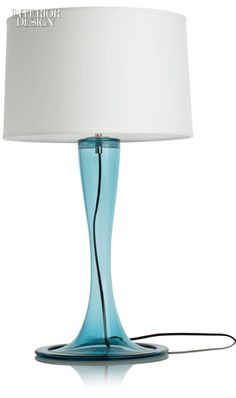 Editors' Picks: 47 Versatile Light Fixtures | Trumpet table lamp in glass and nickel-coated brass by Eidos Glass Designs. #design #interiordesign #interiordesignmagazine #lighting