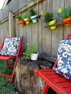 Hangplanten vind ik leuk, zowel binnen als buiten.