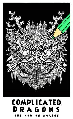 36 Best Complicated Dragons Images Coloring Books Coloring Pages