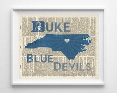 Duke University Blue Devils inspired Art Print by ParodyArtPrints