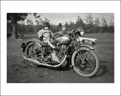 Old photograph.....BSA motorcycle and sidecar, somewhere in Gippsland, Australia.