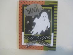 Halloween Invitation or Card- White Ghost - Can be used as a Halloween Decoration or a Halloween card or Invitation by ScrapPantry, $2.49 USD