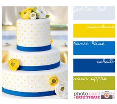 gray yellow blue cobalt green #color #swatch Bright, cheerful scheme. Work for beach or urban