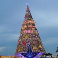 Outdoor commercial huge Christmas trees | iChristmasLight